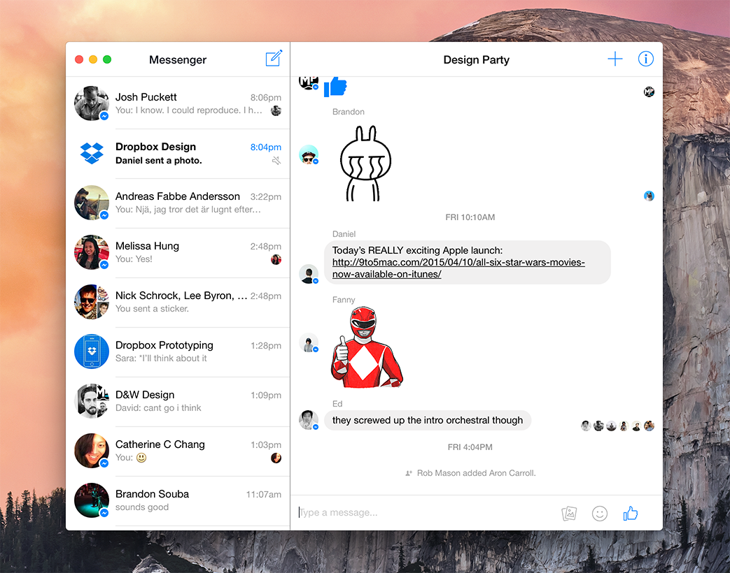 Messenger for Mac